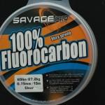 Savage Gear Fluorocarbon 0.75 mm. Der medfølger en rulle med 15 meter