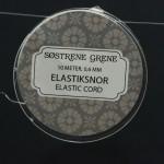 Søstrene Grene elastiksnor (hvid). Rulle med 10 meter
