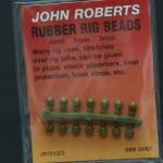 John Roberts rubber rig beads 4mm. Pakke med 14 stk